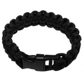 MFH Överlevnadsarmband svart - survival bracelet -  Small