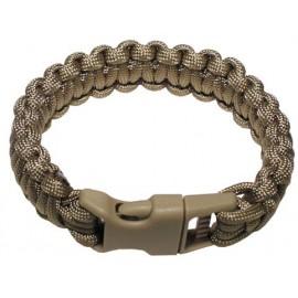 MFH Survival bracelet - Small 22 cm brown