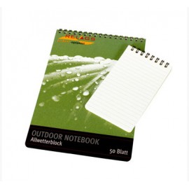 Relags All-weather notebook for outdoor use.
