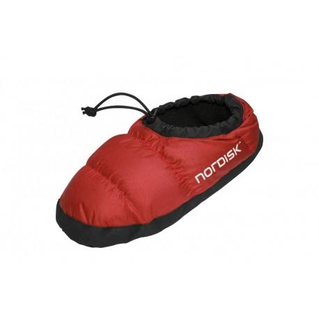 Nordisk down shoe 'Mos' L Röd