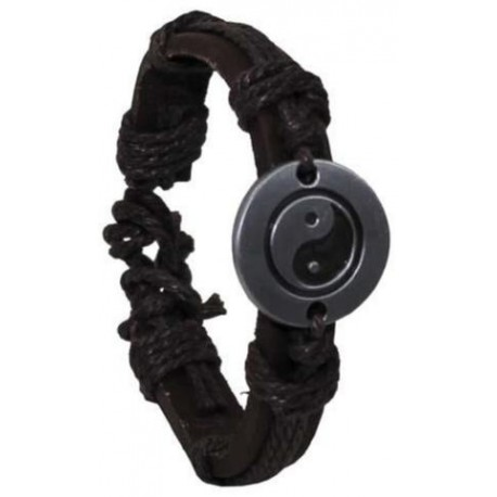 MFH Leather bracelets Emblem - Yin Yang
